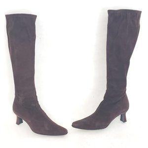 "🤎Stuart Weitzman Brown Suede ""stretch"" tall boots"